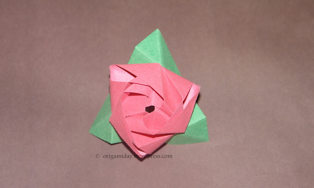 How To Make Origami Rose. stein Origami+rose+cube