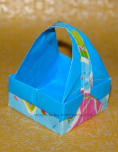Origami Square Basket