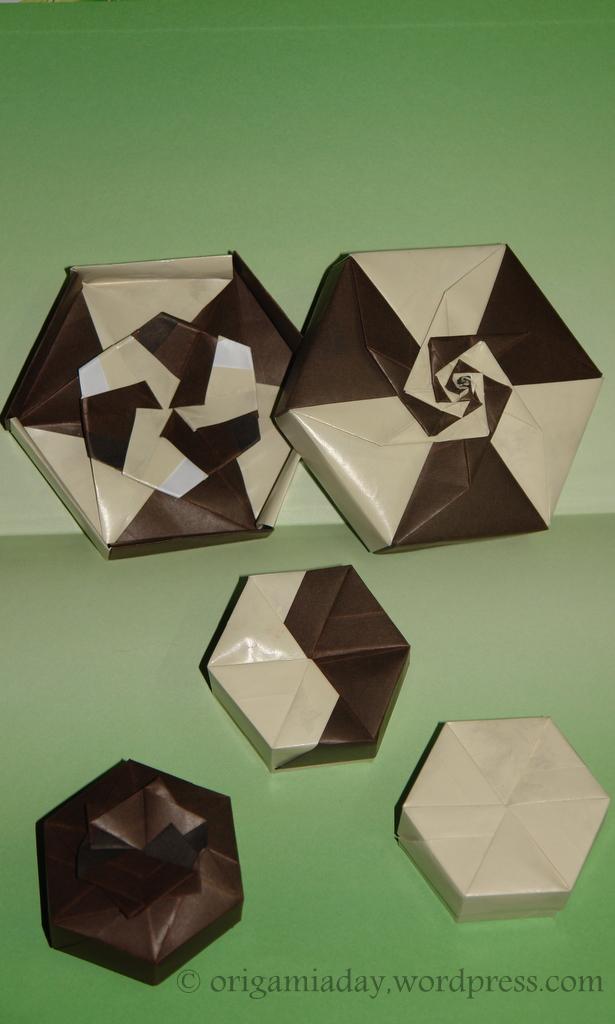 Tomoko Fuse Hexagon Box Instructions : Tomoko fuse an origami a day
