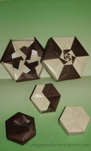 Origami Hexagon Boxes - All