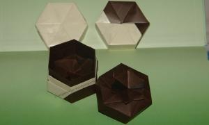 Origami Hexagon boxes