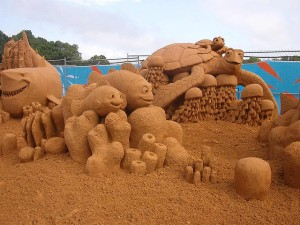 Sand Sculpture - Finding Nemo