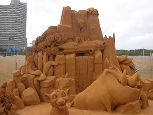 Sand Sculpture - The Lion King