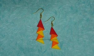 Origami 3D Unit Earrings - 5 units