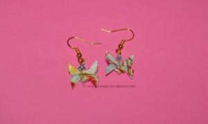 Origami Blue Butterfly Earrings