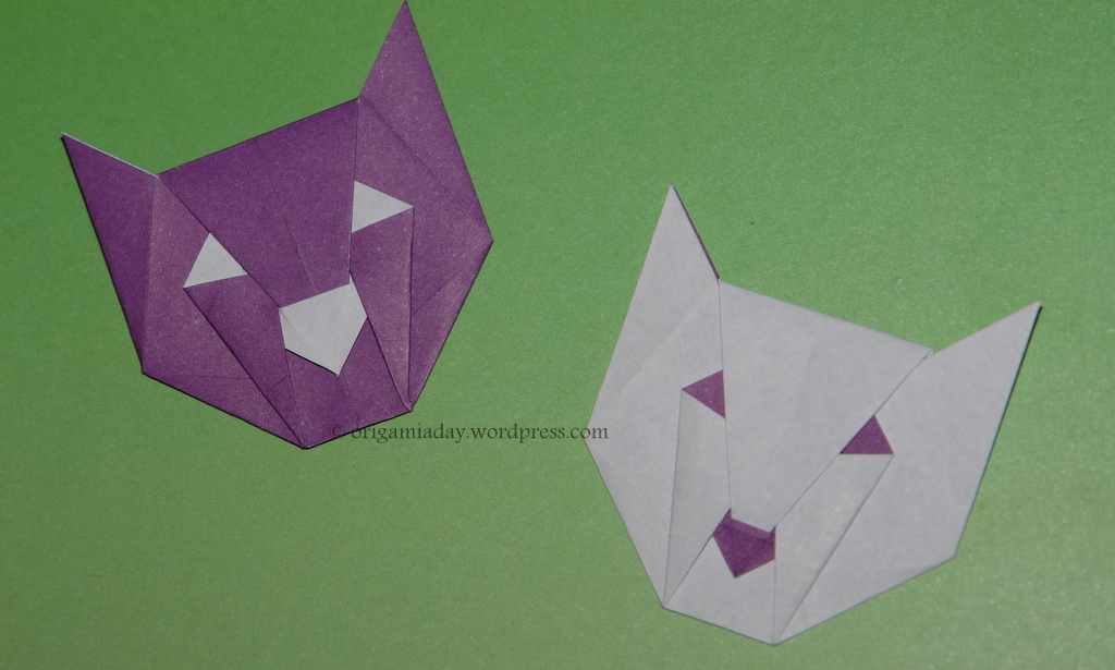cat face an origami a day