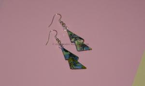 Origami - Green Modular Earring
