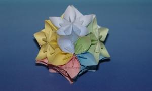 Origami Modular Flower Kusudama