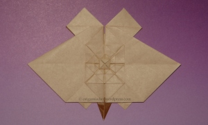 Origami Tessellation Bat - Tessellated back
