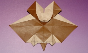 Origami Tessellation Bat