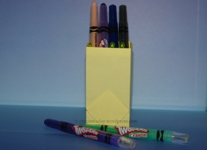 Origami Box for Crayons