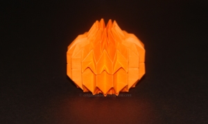 Origami Jack O Lantern Corrugation - Top